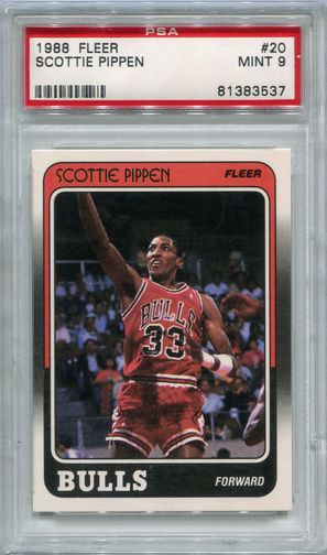 1988 Fleer Scottie Pippen Rookie #20 PSA 9