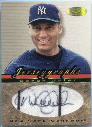 2002 Fleer Hot Prospects Jerseygraphs Derek Jeter Autograph #J-DJ
