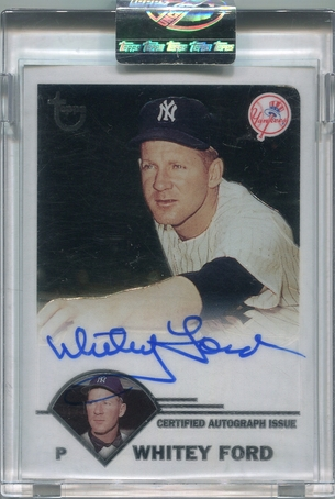 2003 Topps Uncirculated Whitey Ford Autograph #TA-WT
