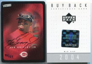 2003 Upper Deck Victory Ken Griffey Jr. Buy Back Autograph #30 #49/57