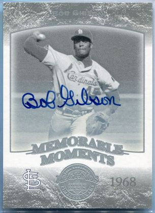 2004 Upper Deck Memorable Moments Bob Gibson Autograph #34