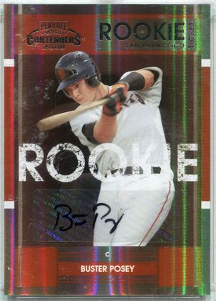 2008 Donruss Playoff Prime Cuts Contenders Rookie Ticket Buster Posey Autograph #2