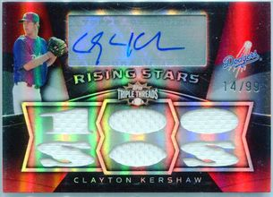 2009 Topps Triple Threads Rising Stars Clayton Kershaw Autograph #14/99