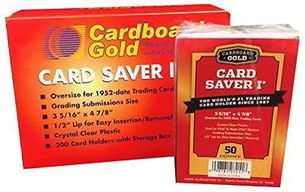 200ct Cardboard Gold Card Saver 1 - Semi Rigid Sleeves ***NOW IN STOCK***