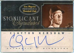 2012 Panini Playoff Prime Cuts Significant Signatures Clayton Kershaw Autograph #CK #23/25