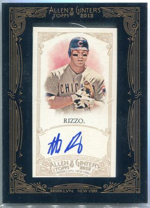 2012 Topps Allen & Ginter Anthony Rizzo Autograph #AGA-AR