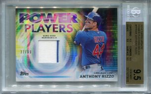 2014 Topps Update Power Players Relics Anthony Rizzo #37/99 BGS 9.5