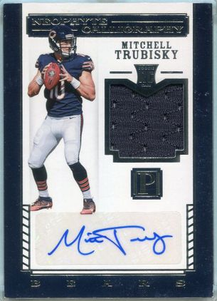2017 Panini Pantheon Neophyte Calligraphy Mitchell Trubisky Rookie Autograph #101 #34/49