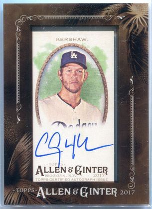 2017 Topps Allen & Ginter Clayton Kershaw Autograph #MA-CKE