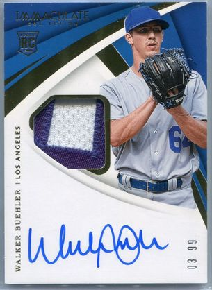 2018 Panini Immaculate Collection Walker Buehler Rookie Autograph #17 #03/99