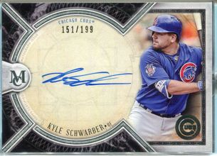 2018 Topps Museum Collection Kyle Schwarber Autograph #AA-KS #151/199