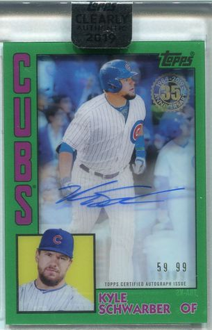 2019 Topps Clearly Authentic Kyle Schwarber Autograph #TBA-KS #59/99