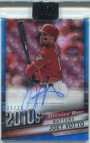 2020 Topps Clearly Authentic Joey Votto Autograph #DBA-JVO #21/25
