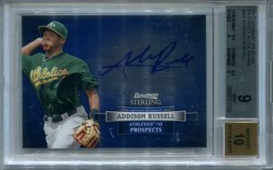 Addison Russell BGS Certified Authentic Autograph - 2012 Bowman Sterling Prospect #AR