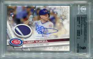 Albert Almora BGS Certified Authentic Autograph - 2017 Topps Walmart Holiday Snowflake Relics #1/1