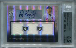 Albert Pujols BGS Certified Authentic Autograph - 2010 Topps Tribute Triple Relic