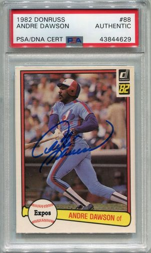 Andre Dawson PSA/DNA Certified Authentic Autograph - 1982 Donruss