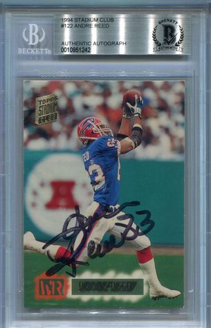 Andre Reed (HOF) BGS Certified Authentic Autograph - 1994 Stadium Club