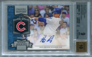 Anthony Rizzo BGS Certified Authentic Autograph - 2013 Topps Chasing History