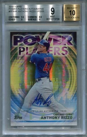Anthony Rizzo BGS Certified Authentic Autograph - 2014 Topps Power Players