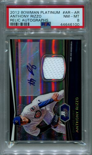 Anthony Rizzo PSA/DNA Certified Authentic Autograph - 2012 Bowman Platinum Relic