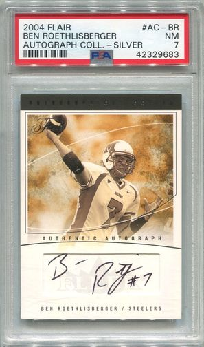 Ben Roethlisberger Rookie PSA/DNA Certified Authentic Autograph - 2004 Flair Silver #24/100