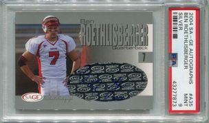 Ben Roethlisberger Rookie PSA/DNA Certified Authentic Autograph - 2004 SAGE Silver #A35 #22/150