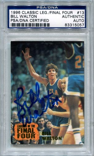 Bill Walton PSA/DNA Certified Authentic Autograph - 1996 Classic - Legends