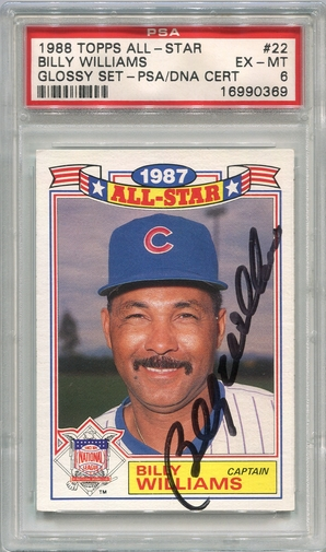 Billy Williams PSA/DNA Certified Authentic Autograph - 1988 Topps All-Star