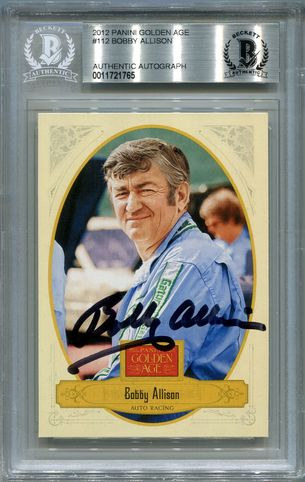 Bobby Allison BGS Certified Authentic Autograph - 2012 Panini Golden Age