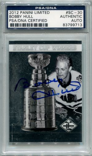 Bobby Hull PSA/DNA Certified Authentic Autograph - 2012 Panini Limited