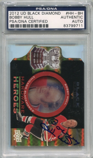 Bobby Hull PSA/DNA Certified Authentic Autograph - 2012 UD Black Diamond #HH-BH
