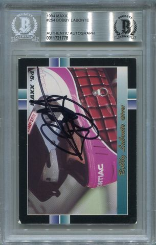 Bobby Labonte BGS Certified Authentic Autograph - 1994 MAXX