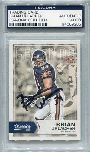 Brian Urlacher PSA/DNA Certified Authentic Autograph - 2016 Panini Classics