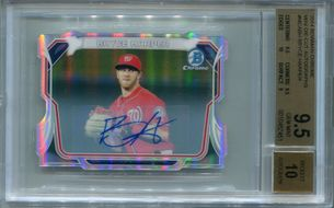 Bryce Harper BGS Certified Authentic Autograph - 2014 Bowman Chrome Mini Die-Cut #10/10