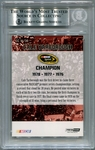 Cale Yarborough BGS Certified Authentic Autograph - 2011 Press Pass Fanfare