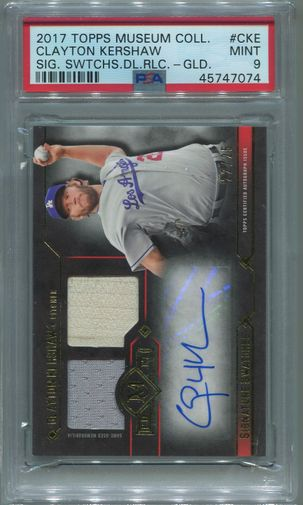 Clayton Kershaw PSA/DNA Certified Authentic Autograph - 2017 Topps Museum Collection