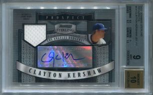 Clayton Kershaw Rookie BGS Certified Authentic Autograph - 2007 Bowman Sterling Prospects
