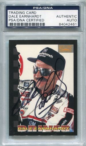 Dale Earnhardt PSA/DNA Certified Authentic Autograph - 1996 Pinnacle