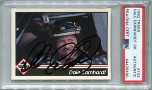 Dale Earnhardt PSA/DNA Certified Authentic Autograph - 1992 Traks #103