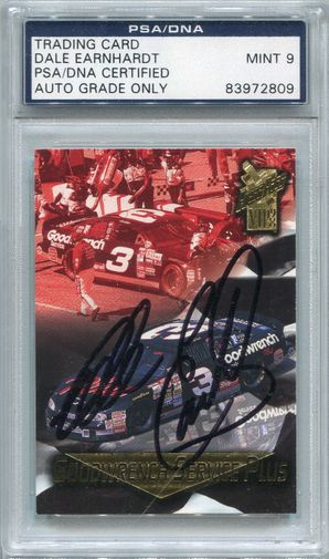 Dale Earnhardt PSA/DNA Certified Authentic Autograph - 1998 Press Pass VIP's