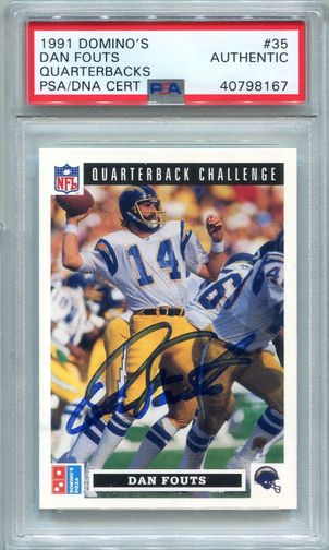 Dan Fouts PSA/DNA Certified Authentic Autograph - 1991 Upper Deck Domino's