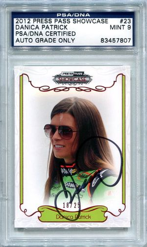 Danica Patrick PSA/DNA Certified Authentic Autograph - 2012 Press Pass Showcase #23