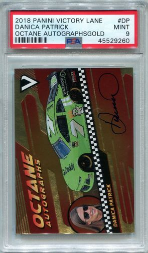 Danica Patrick PSA/DNA Certified Authentic Autograph - 2018 Panini Victory Lane #12/25