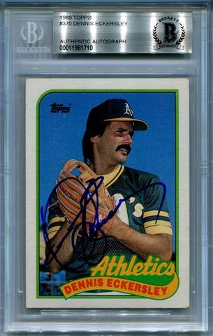 Dennis Eckersley BGS Certified Authentic Autograph - 1989 Topps