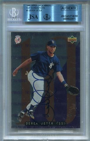 Derek Jeter JSA/BGS Certified Authentic Autograph - 1995 Upper Deck Minors #1