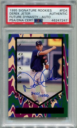 Derek Jeter PSA/DNA Certified Authentic Autograph - 1995 Signature Rookies