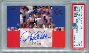 Derek Jeter PSA/DNA Certified Authentic Autograph - 2001 Stadium Club