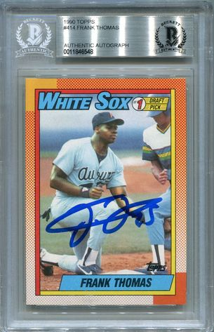 Frank Thomas Rookie BGS Certified Authentic Autograph - 1990 Topps