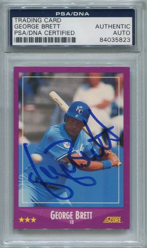 George Brett PSA/DNA Certified Authentic Autograph - 1988 Score (5823)